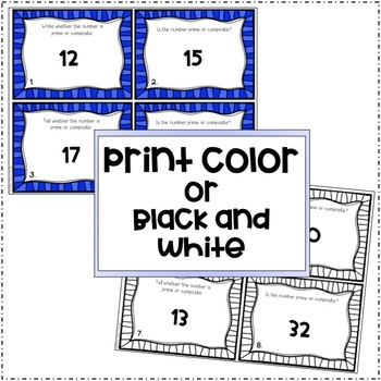 Prime and Composite Numbers (Task Cards)