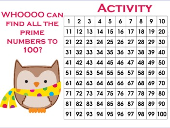 Prime and Composite Numbers (Winter Owls)