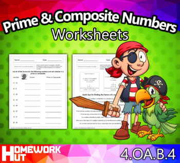 4.OA.4 - Prime and Composite Numbers Worksheets