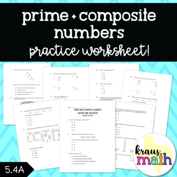 Prime and Composite Numbers: Test Prep Word Problems Worksheet!
