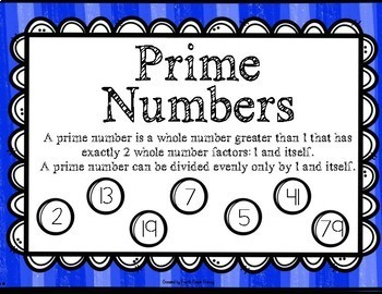 Prime and Composite Numbers Inclusion Class Resource