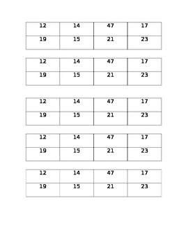 Prime and Composite Numbers template