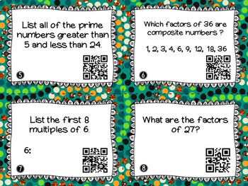 Prime and Composite Numbers with Factors and Multiples