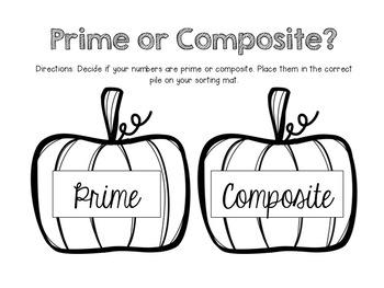 Prime and Composite Pumpkin Sort (4.OA.B.4)