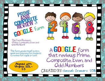 Prime and Composite Review 3 Google Form