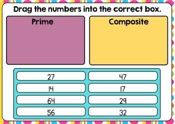 Prime and Composite Sort and Mystery Numbers Boom Cards