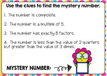 Prime and Composite Sort and Mystery Numbers Digital Boom Cards