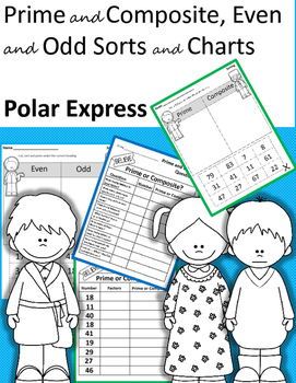 Prime and Composite, Even and Odd Sorts and Charts - Polar
