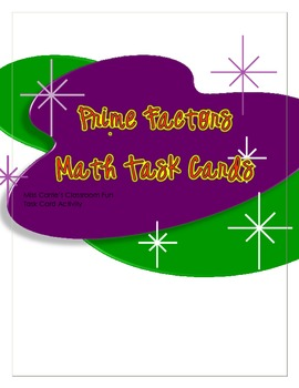 Prime and Composite Task Card Activity