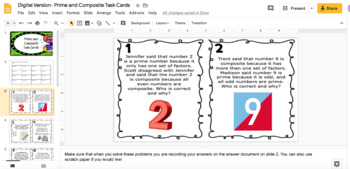 Prime and Composite Task Cards Enhanced with Augmented Reality & QR Codes 5.4A