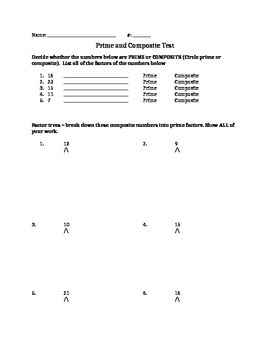 Prime and Composite Test