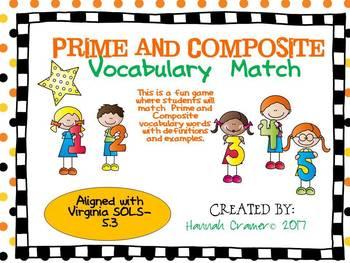 Prime and Composite Vocabulary Match
