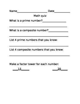 Prime and Composite quiz