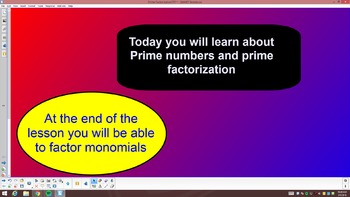 Prime factorization of numbers and monomials