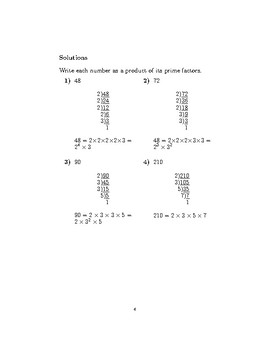 Prime factors of an integer using division