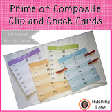 Prime or Composite Clip and Check Cards