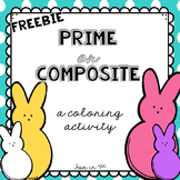 Prime and Composite Numbers: Easter Bunny Coloring Activity