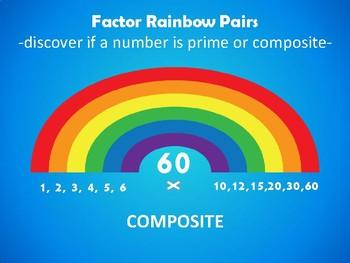 Prime or Composite? Factor Rainbow Pairs