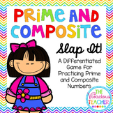 """Prime and Composite """"Slap It!"""" Differentiated Game"""