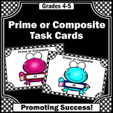Prime and Composite Numbers Task Cards to Suppement Number Theory Unit