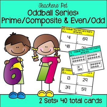 Prime or Composite and Even or Odd Oddball Cards