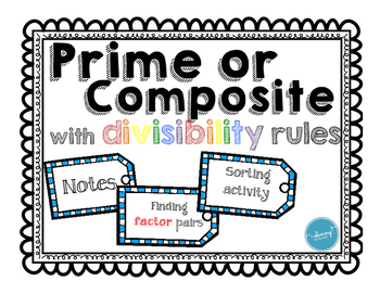 Prime or Composite using Divisibility Rules