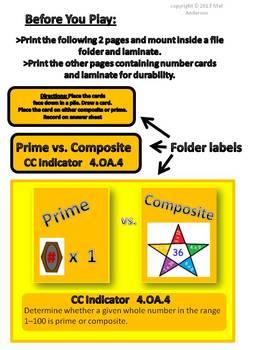Prime vs. Composite Folder Game