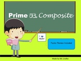 Prime vs. Composite Numbers with primes up to 100 and Factor Review