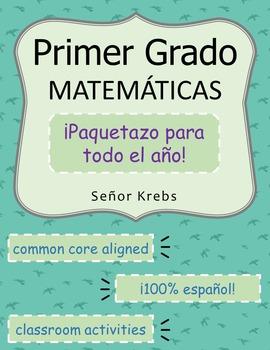 Primer Grado Matemáticas Paquetazo : Spanish First Grade M