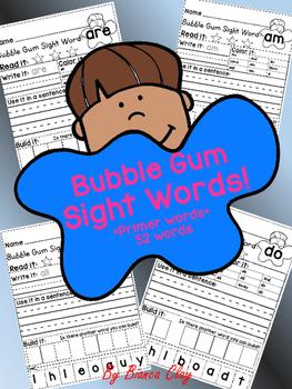 Primer Bubble Gum Sight Words
