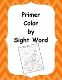 Primer Color By Sight Word
