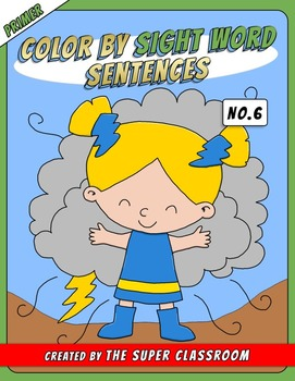 Primer: Color by Sight Word Sentences - 006