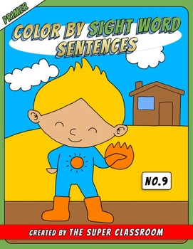 Primer: Color by Sight Word Sentences - 009