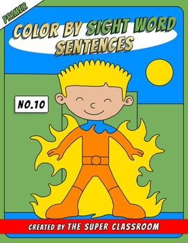 Primer: Color by Sight Word Sentences - 010