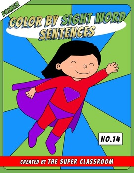 Primer: Color by Sight Word Sentences - 014