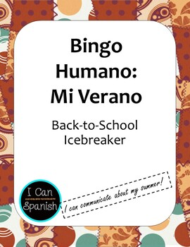 Primer Día de Clase: Bingo Humano 2 / First day of Spanish Class Human Bingo 2