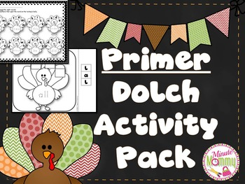Primer Dolch Activity Pack {Thanksgiving Theme}