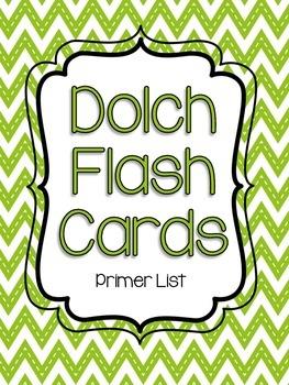 Primer Dolch Flash Cards