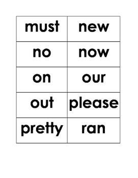 Primer Dolch List Sight Words (Kindergarten)