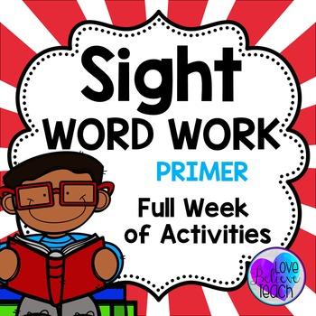 Primer Sight Word Work