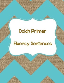Primer Dolch QR Code Sentences (fluency & accuracy)