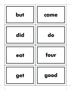 Primer Dolch Sight Word Cards