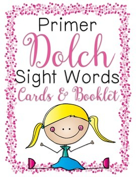 Primer Dolch Sight Word Cards & Booklet - Confetti Kids Theme