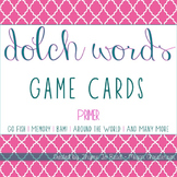 Primer Dolch Sight Word Game Cards