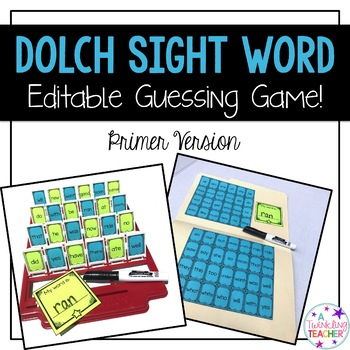 Primer Dolch Sight Word Guessing Game!