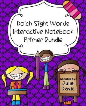 Primer Dolch Sight Word Interactive Notebooks Bundle