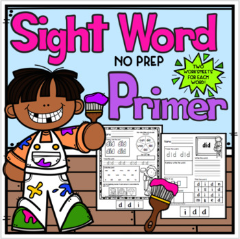 Primer Sight Word No Prep Packet