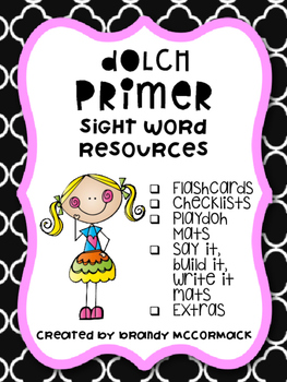 Primer Dolch Sight Word Resources
