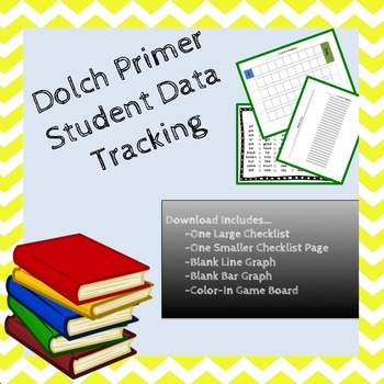 Primer Dolch Sight Word Student Data Tracking Bundle