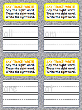 Sight Words Flash Cards - Primer Dolch